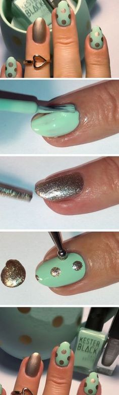 Minty Perfect Match   Easy Spring Nail Designs for Short Nails   DIY Beach Nail Art Ideas for Teens