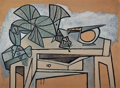 Pablo Picasso - Still life with Rooster and Knife - 1947