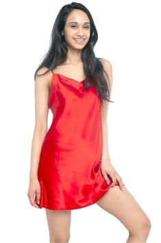 MYK Silk - Soft Silk Chemise for Women - Summer Essential Sleepwear Silk Sleepwear, Sleepwear Women, Silk Chemise, Nightgowns For Women, Satin Lingerie, Silk Slip, Mulberry Silk, Summer Essentials, Red Silk