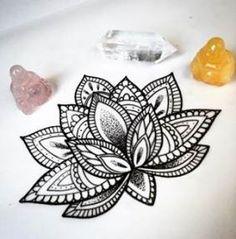 36 Mandala Lotus Tattoos Ideas - Coloring Page Ideas Et Tattoo, Hand Tattoo, Piercing Tattoo, Piercings, Lotus Tattoo Design, Tattoo Designs, Lotus Design, Neue Tattoos, Body Art Tattoos