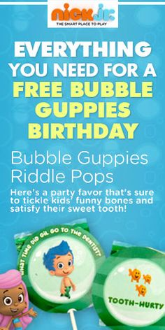 Throw a Bubble Guppies #Birthday #Party for #Free! #decorations #games #fun #treats #freebies