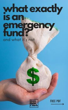 "Have you ever wondered someone meant when they used the term, ""emergency fund""? Here's what you need to know what it is/isn't and why you need one. If you want to make your next emergency one emergency instead of two, make sure you start setting money aside for that ""rainy day"". Ways To Save Money, Money Saving Tips, How To Make Money, Money Tips, Living On A Budget, Frugal Living, Financial Tips, Financial Planning, Budgeting Money"
