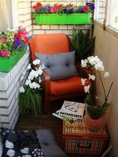 Leseecke auf dem Balkon >> Ideias Para Varanda Pequena de Apartamento!por Depósito Santa Mariah