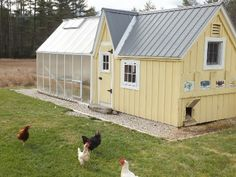 Lovely chicken coup with greenhouse!
