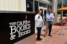 Chef Allen Susser speaks at the Ribbon Cutting for The Café at Books & Books, Arsht Center #CafeBBArsht