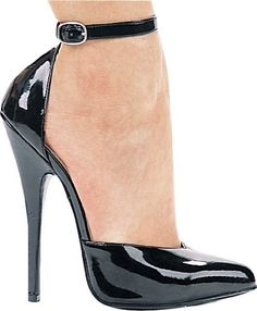 ELLIE 8265 6 Heel Fetish Pump Womens Sandal with Ankle Strap Black 12 Size *** Want to know more, click on the image.