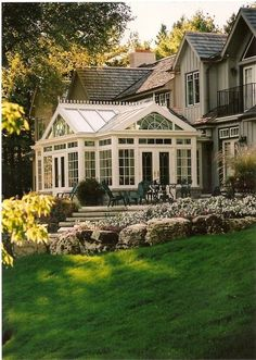 ...Beautiful Conservatory. I wish we didn't have to worry about hail so we could do something like this!