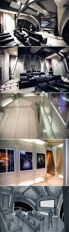 There are home theaters, and then there is the home theater to rule the galaxy. This Star Wars-themed home theater is downright mind blowing, and yes it's really in someone's house.  Of course when you're going to deck your theater out in Star Wars gear, you can't just hire any schmuck off the streets to design the place – you've gotta hire the best of the best.