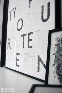 Kristina Krogh #2014 calendar via that nordic feeling