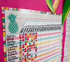 Tropical Punch Incentive Chart - Convenient, useful learning tools that decorate as they educate! Each chart measures by Related lessons and activities are provided on the back of every chart. Class Incentives, Classroom Incentives, Classroom Jobs, Classroom Organisation, Classroom Design, Classroom Decor, Classroom Management, Future Classroom, Reward Sticker Chart