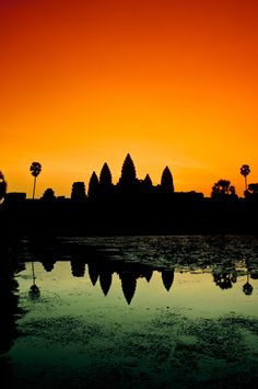 Such beautiful colours. This would make an awesome print. Angkor Wat, Siem Reap, Cambodia.    #MoreMoneyMoreTravel