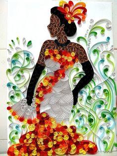 Paper quilling by Ayobola Kekere-Ekun - Belle of the Ball