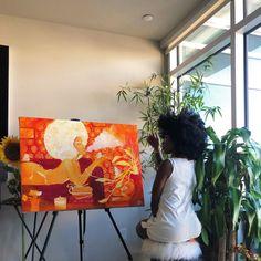 Black Girl Art, Black Women Art, Art Girl, Afro, Arte Peculiar, Art Hoe Aesthetic, New Energy, Black Artists, Dope Art