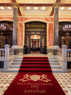 "Pera Palace Hotel Jumeirah, Istanbul The former ""Pera Palace Hotel"" was built to host the passengers of the Orient Express © Jumeirah Hotels & Resorts Beach Hotels, Hotels And Resorts, Beautiful Hotels, Beautiful Places, Amazing Hotels, Boutiques, Classical Interior Design, Palace Hotel, Istanbul Turkey"
