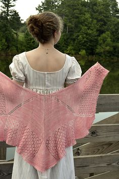 Simple and pretty. Ravelry: Jane Bennet's Shawl pattern by Annie Riley