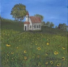 """Old Church in the Field"" by Linda W Clark #creativeworksoflindaclark https://www.facebook.com/CreativeWorksofLindaClark"