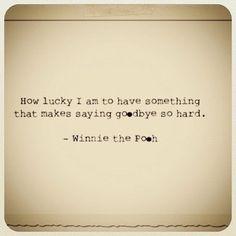 How lucky I am...