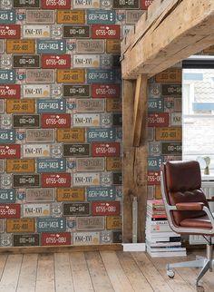 Futurism, Warehouse, Dutch, Retro, Wallpaper, Modern, Design, Pallet, Core