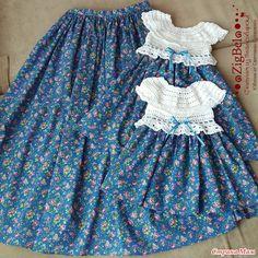. Комбинированные платья в стиле FAMILY LOOK - Все в ажуре... (вязание крючком) - Страна Мам