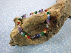 Chakra Armband - Edelsteine Wimmer Chakra Armband, Chakra Healing Stones, Rhinestones, Handmade