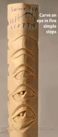 2539-Eye Carving - Wood Carving Techniques