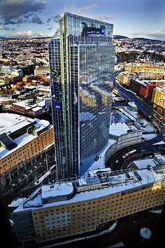 The tallest hotel in Northern Europe, the Radisson Blu, Oslo, Norway Norway Viking, Norway Oslo, Places To Travel, Places To See, Places Around The World, Around The Worlds, Resorts, Beautiful Norway, Scandinavian Countries