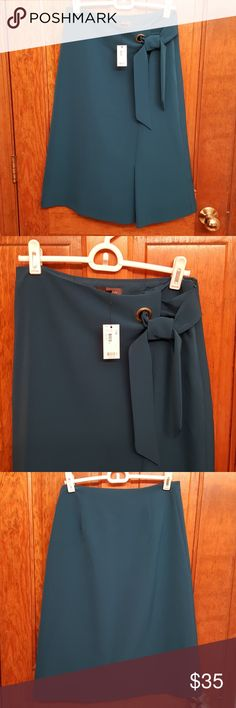 Brand New The Limited Lady Skirt Size: 0 Shell: 90% Polyester and 10% Spandex Lining: 100% Polyester The Limited Skirts A-Line or Full