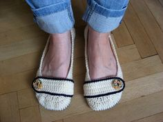 Crochet slippers Crochet Slippers, Moccasins, Espadrilles, Flats, Shoes, Fashion, Penny Loafers, Espadrilles Outfit, Loafers & Slip Ons