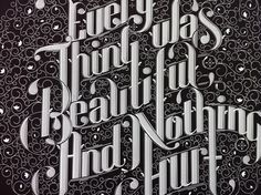 lettering by ben johnston -- precision, flow, contrast, geometric organics Vintage Typography, Typography Letters, Typography Design, Logo Design, Typographie Inspiration, Cd Cover Art, Graphic Design Brochure, Photography Illustration, Beautiful Drawings