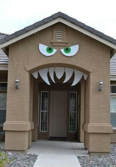 Turn your entryway into a monster's mouth for Halloween! Use a Louver vent to create a nose! http://www.wholesalemillwork.com/louvers/louverpages/LOUVERS.html