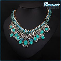 Source Fashion Turquoise Charm Necklace For Women on m.alibaba.com