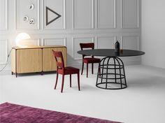 Round crystal table MASS TABLE by Bonaldo design Alain Gilles
