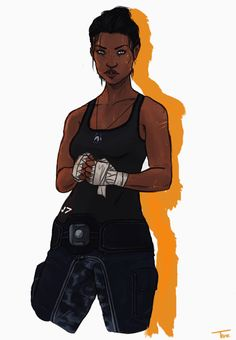 velannas: idk who she's sparring with but they're gonna be on the floor in about six seconds (GORGEOUS femShep! Black Anime Characters, Dnd Characters, Fantasy Characters, Female Characters, Black Girl Art, Black Women Art, Black Art, Art Girl, Character Bank