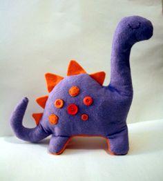 Felt dinosaur toy.