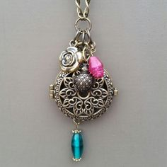 In Time. Aromatherapy Diffuser Necklace. Now Available! $33.99. www.etsy.com/shop/EssentiallyElegant www.essentiallyelegant.com