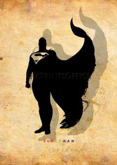 Superman,Superhero poster, Hero print, Superman Art, Hero Illustration, Abstract, Wall, Artwork, Comic poster, Home Decor