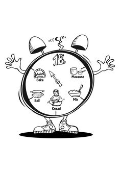 coloring page 18 minute clock click on picture to print