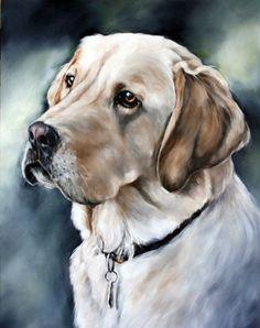Портрет собаки краской