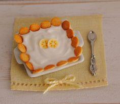 Miniature Banana Pudding por LittleThingsByAnna en Etsy,