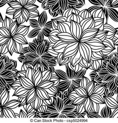 Vector - Doodle Floral Seamless Pattern - stock illustration, royalty free illustrations, stock clip art icon, stock clipart icons, logo, line art, EPS picture, pictures, graphic, graphics, drawing, drawings, vector image, artwork, EPS vector art