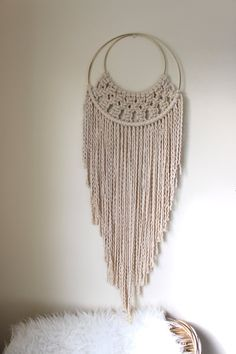 Made to Order Macrame Circle Moon Wall by MillennialHandmades