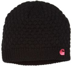 Carhartt Women's Embroidered C Knit Hat, Black, One Size:Amazon:Clothing