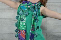 Fular verde esmeralda