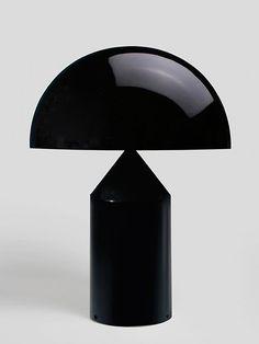 Table lamps in modern, creative and industrial designs - Unique interior from Artilleriet. Black Table Lamps, Bedside Table Lamps, Bedroom Lamps, Lamps R Us, Light Table, Lamp Light, Bauhaus, Atollo Lamp, Wine Cellar Design