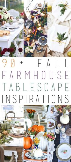90+ Fall Farmhouse Tablescapes you will be INSPIRED by! You can also add yours to the list! Come and join us!