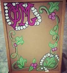 phi mu cork board
