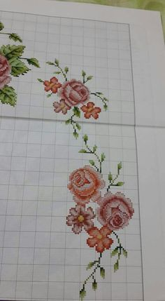 This Pin was discovered by Ays Cross Stitch Rose, Cross Stitch Borders, Cross Stitch Flowers, Cross Stitch Designs, Cross Stitching, Cross Stitch Patterns, Embroidery Patterns Free, Embroidery Stitches, Prayer Rug