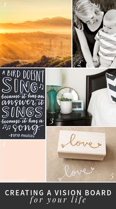 The power of positive thinking as a mom // Creating a vision board for your life // letwhylead.com