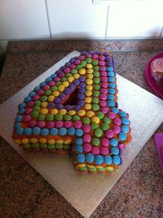 Birthday cake, number 4
