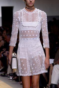 Christian Dior at Paris Fashion Week Spring 2017 - (Details) Crochet Dress